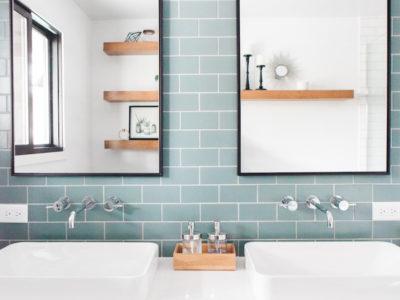 Rustic Flagstone Bathroom
