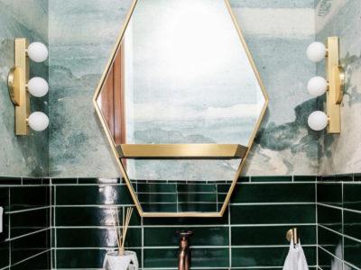 Ali Hynek: Venetian Green Powder Room