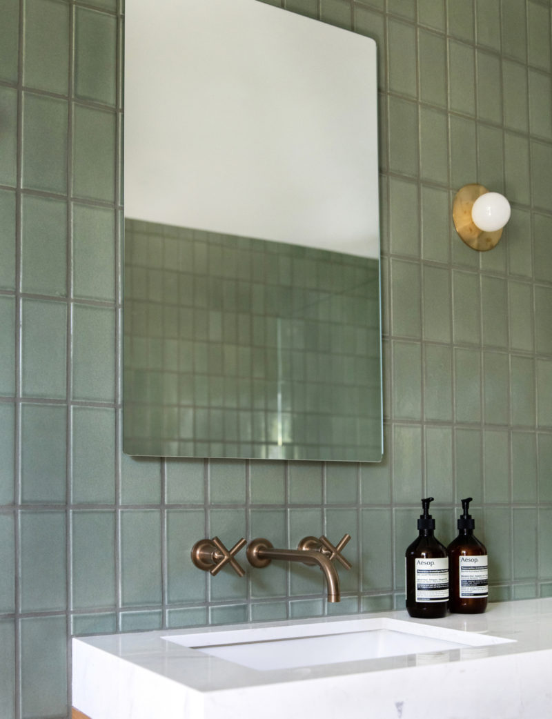 Mandy Moore Rosemary Bathroom Fireclay Tile