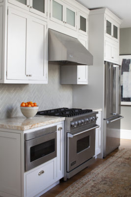 London Fog Herringbone Backsplash