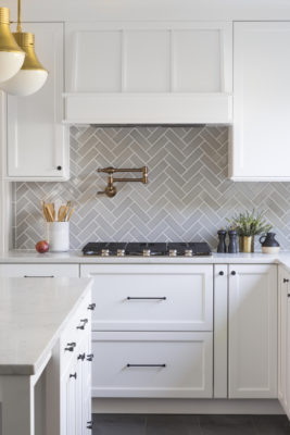 Effortlessly Elegant Herringbone Backsplash