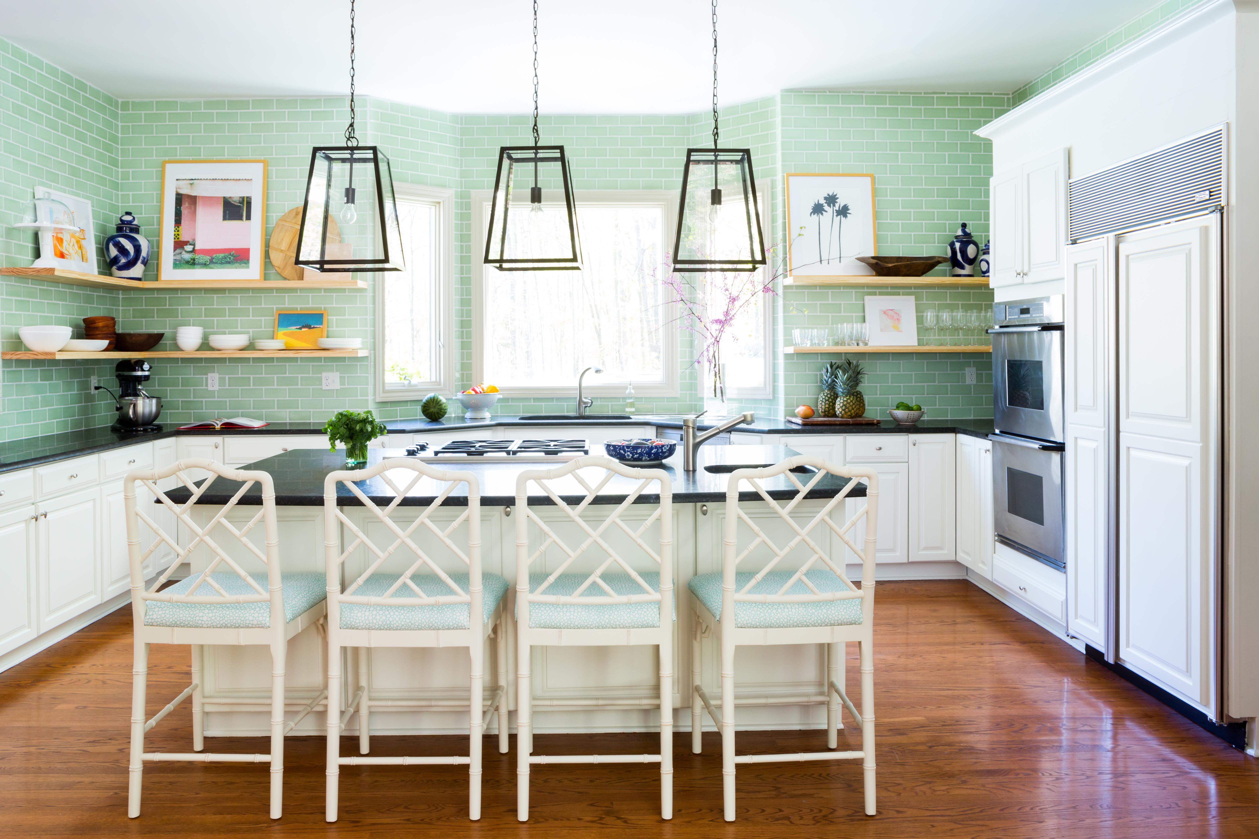 Kiwi 3x6 Fireclay Tile Kitchen Backsplash