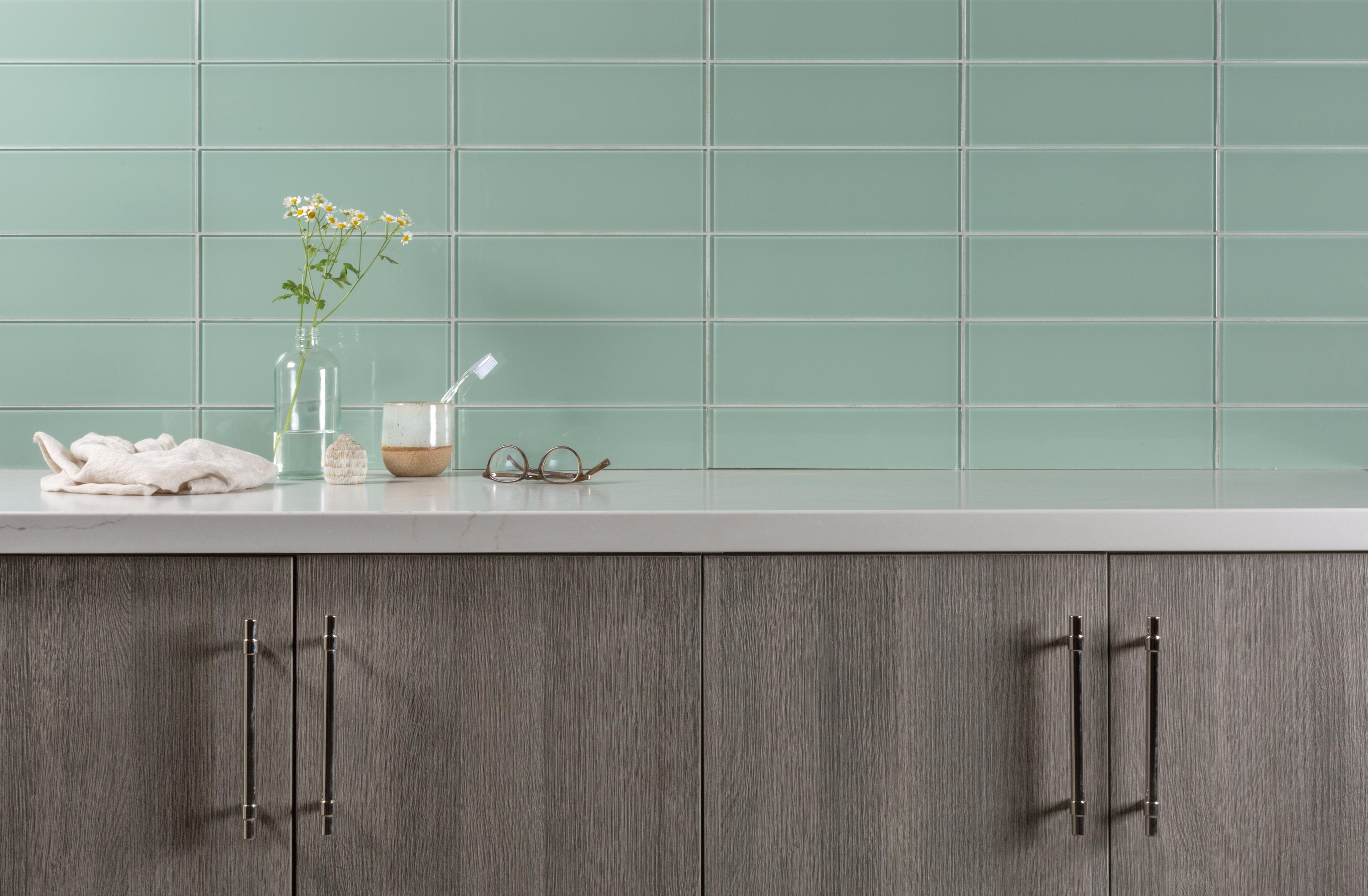 Fireclay Tile Glass Kingfisher Gloss 4x12