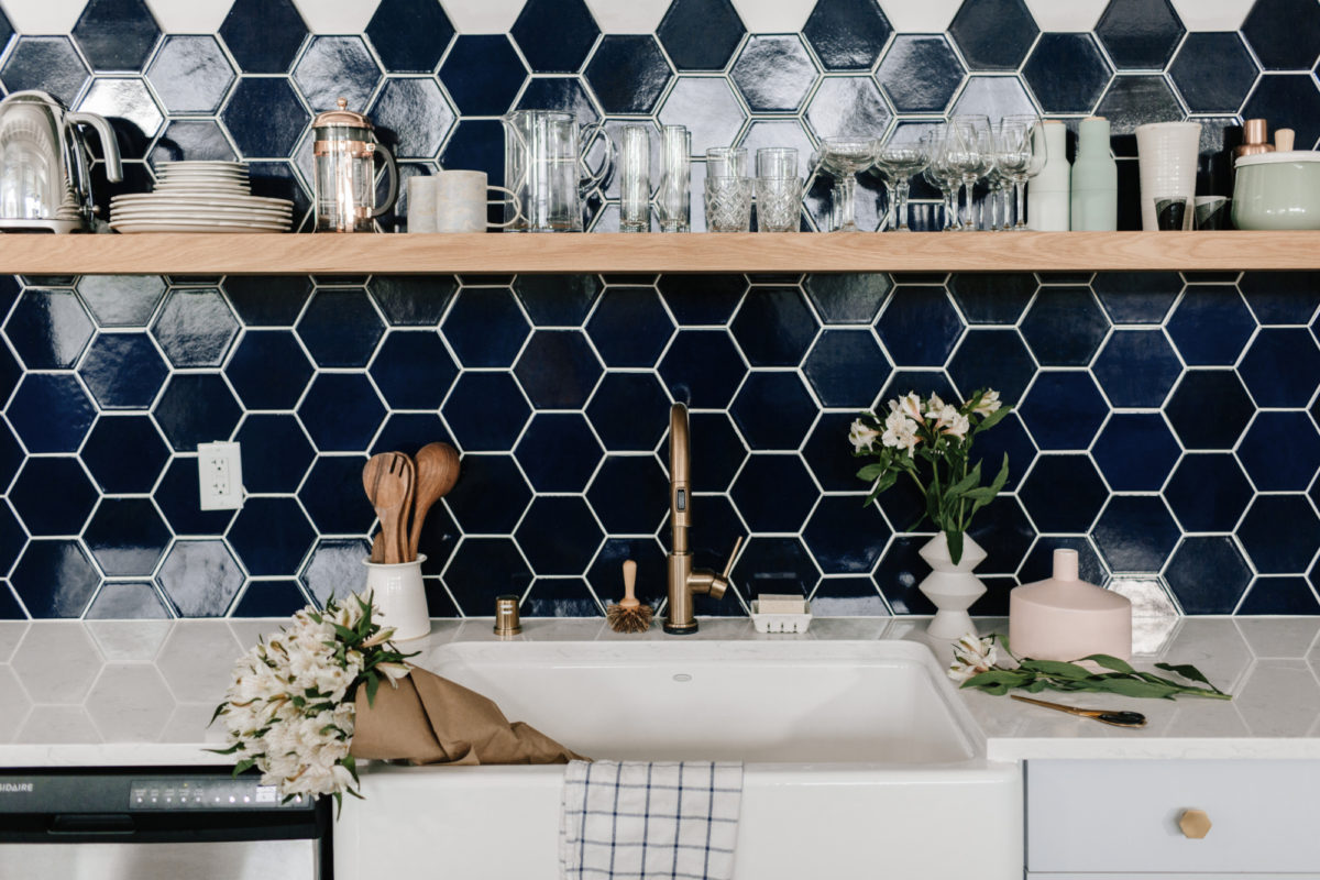 3dbd3b5e9bdf Dark colors can transform any interior from every day to alluring, and the  same goes for navy blue tile. Confident without being overpowering, our Navy  Blue ...