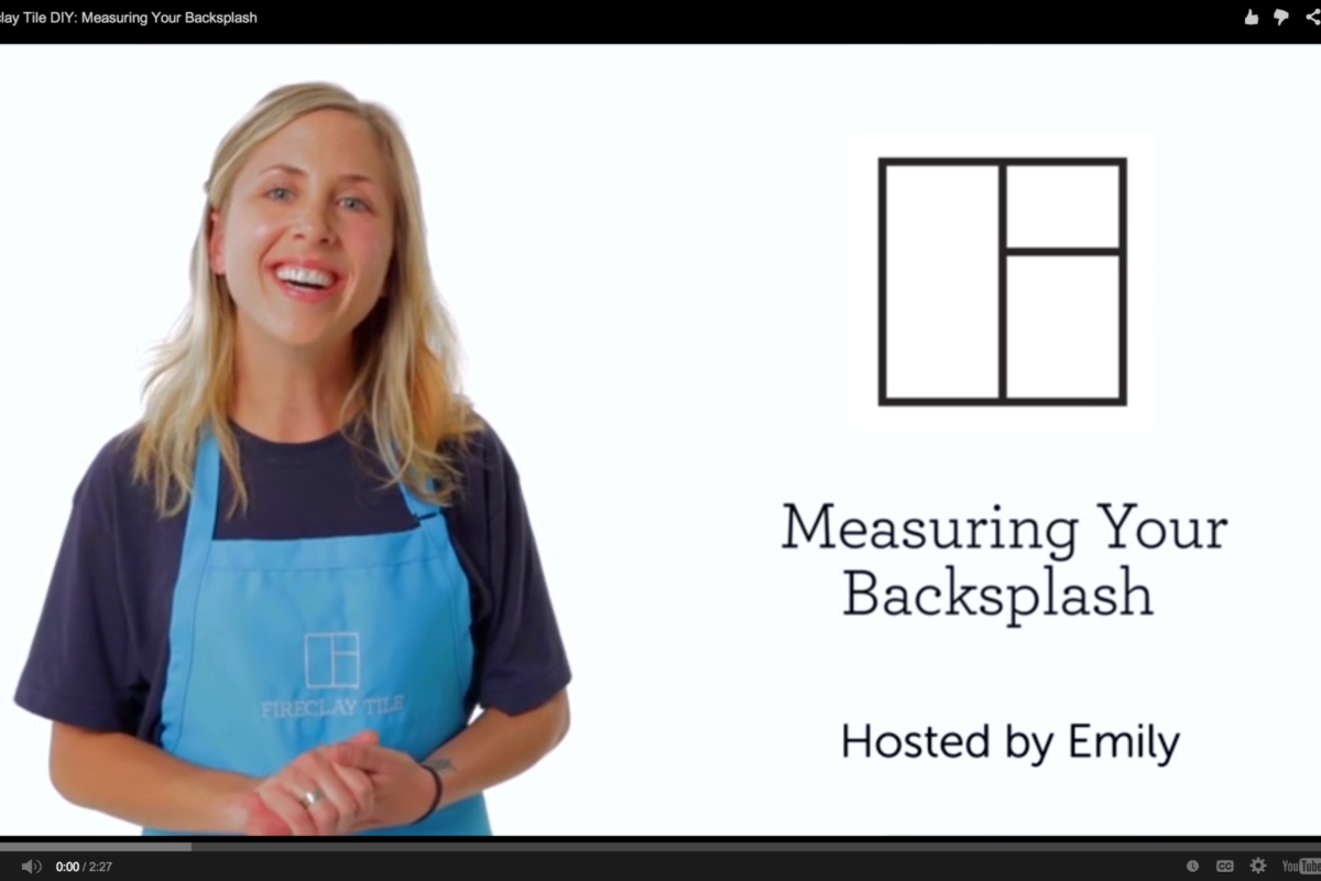 How To Measure Your Backsplash Fireclay Tile