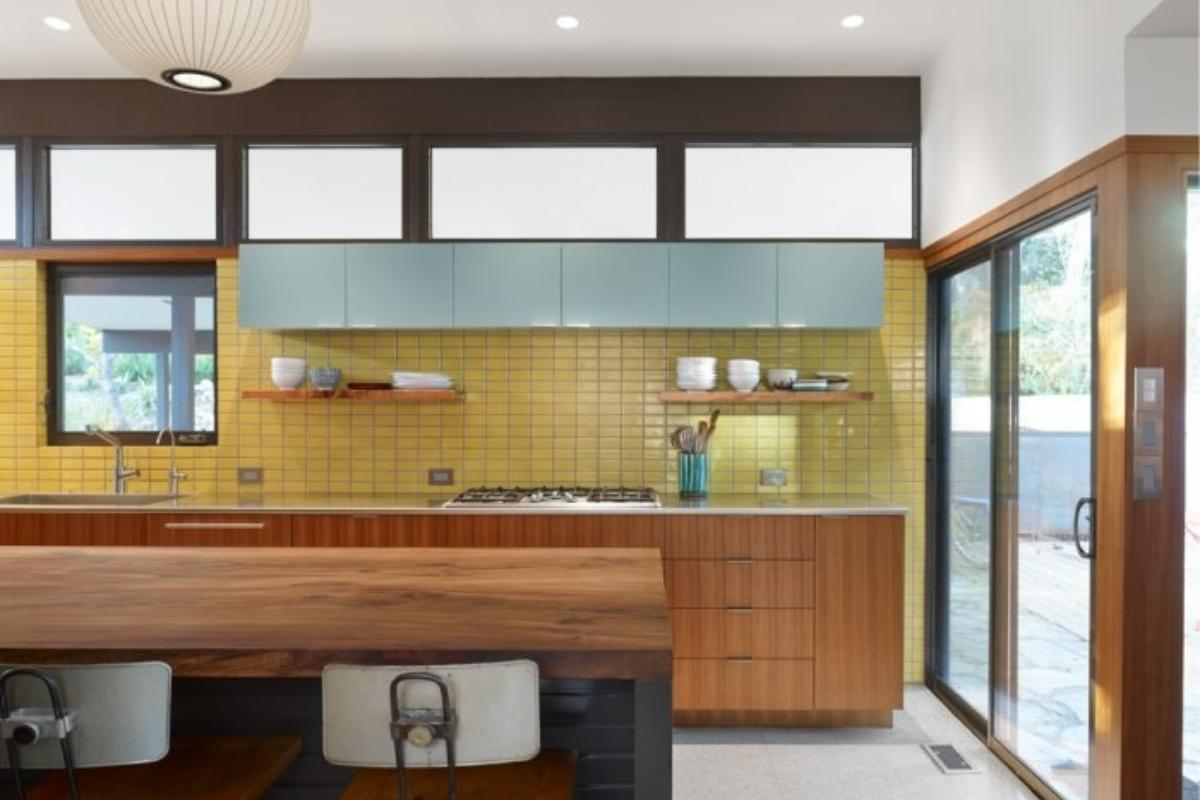 Tile By Style Kitchen With A Serving Of Mid Century