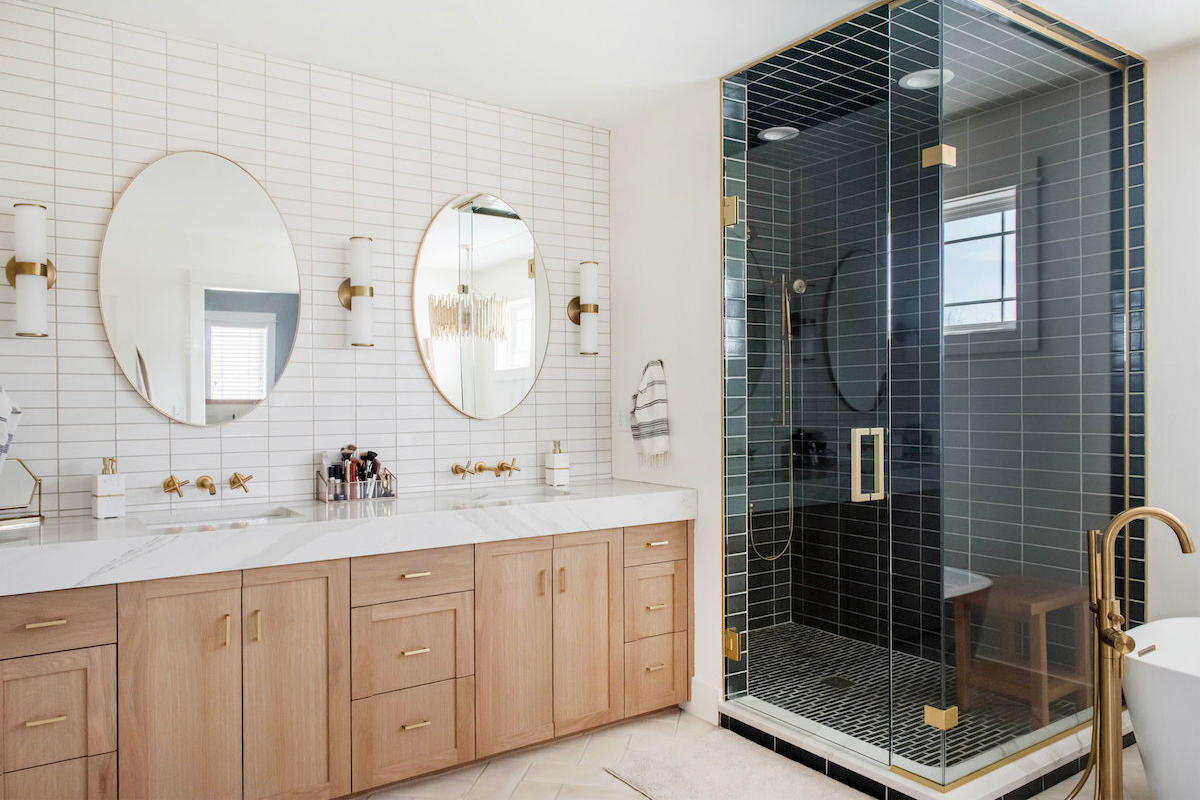 Project Spotlight Two Tone Master Bath Fireclay Tile