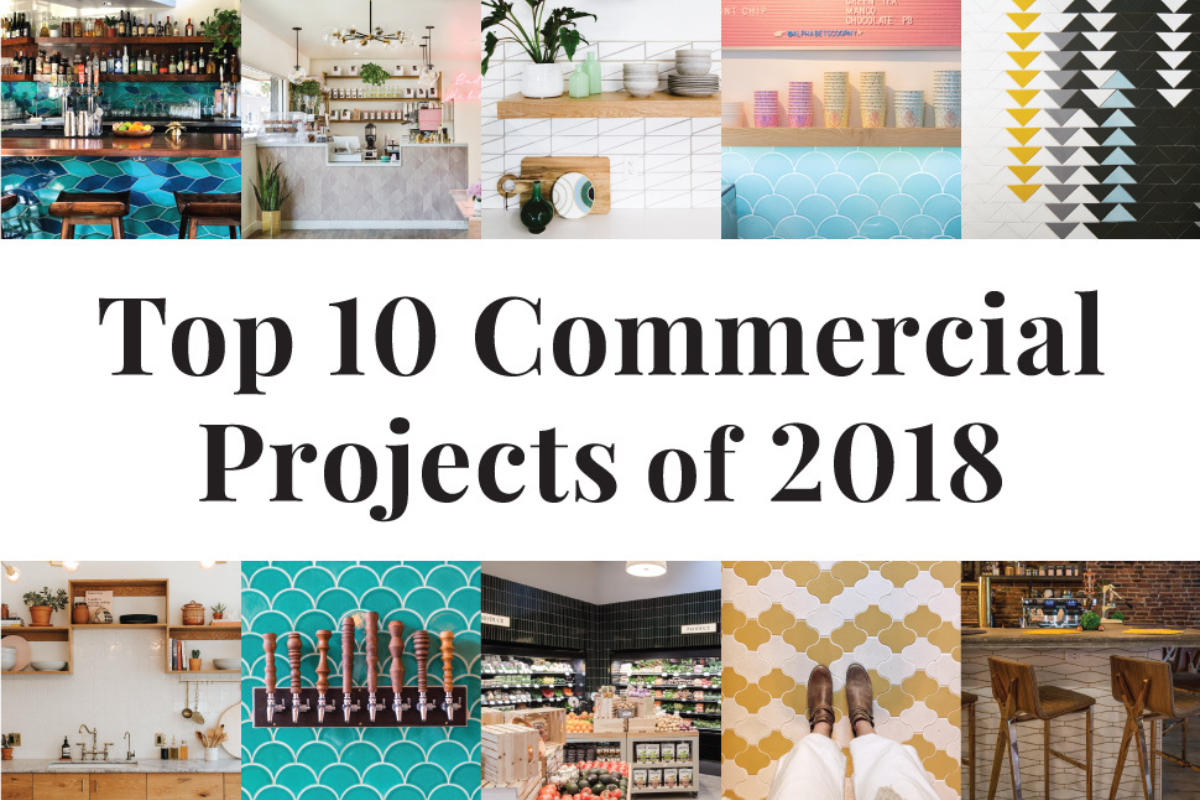 Top 10 Commercial Projects of 2018   Fireclay Tile