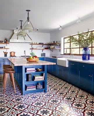 Colorful Cabinet and Tile Combos