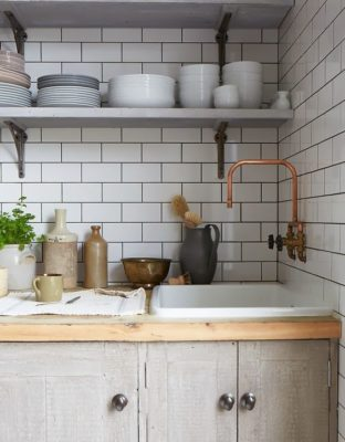 Tile and Vintage Fixtures, Exposed