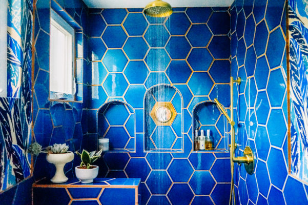Welcome to the Jungalow: Justina Blakeney's Deep Blue Masterbath