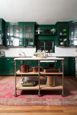 10 White Tile + Bold Paint in the Kitchens