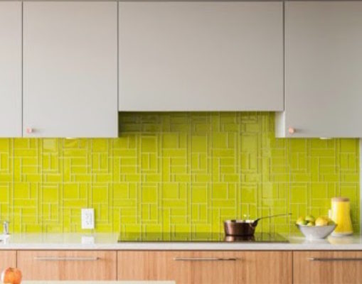 Tile Color Spotlight: Chic Out with Chartreuse and Gray