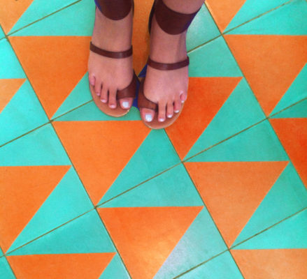 Tile Color Spotlight: Teal and Orange are a Dynamic Duo