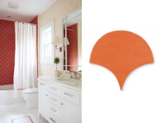 Summer Lovin': Warm-Toned Bathroom Tile