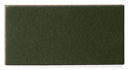 Glazed Right Corner Hunter Green Fireclay Tile