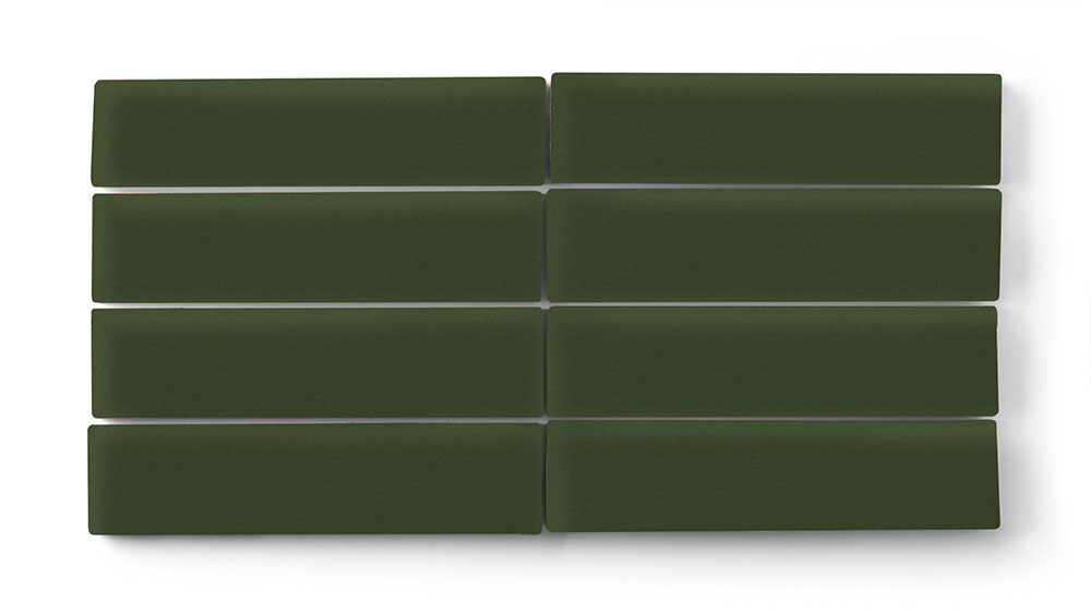 2 X 8 Hunter Green Fireclay Tile