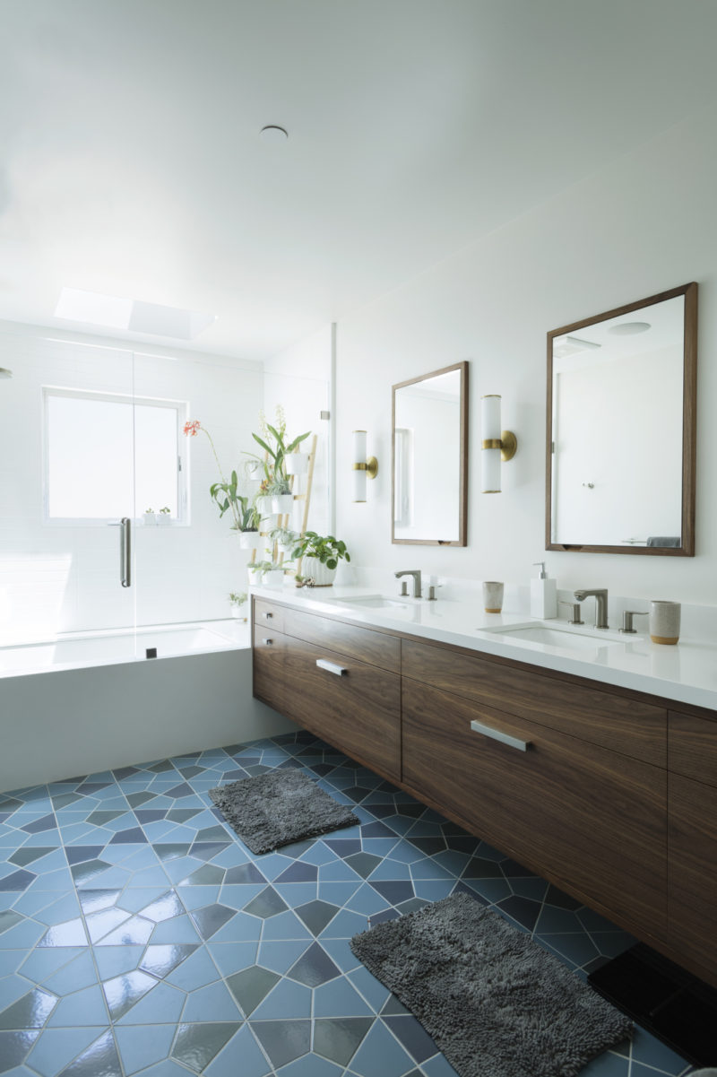 Hexite Blend Bathroom Floor Tile | Fireclay Tile