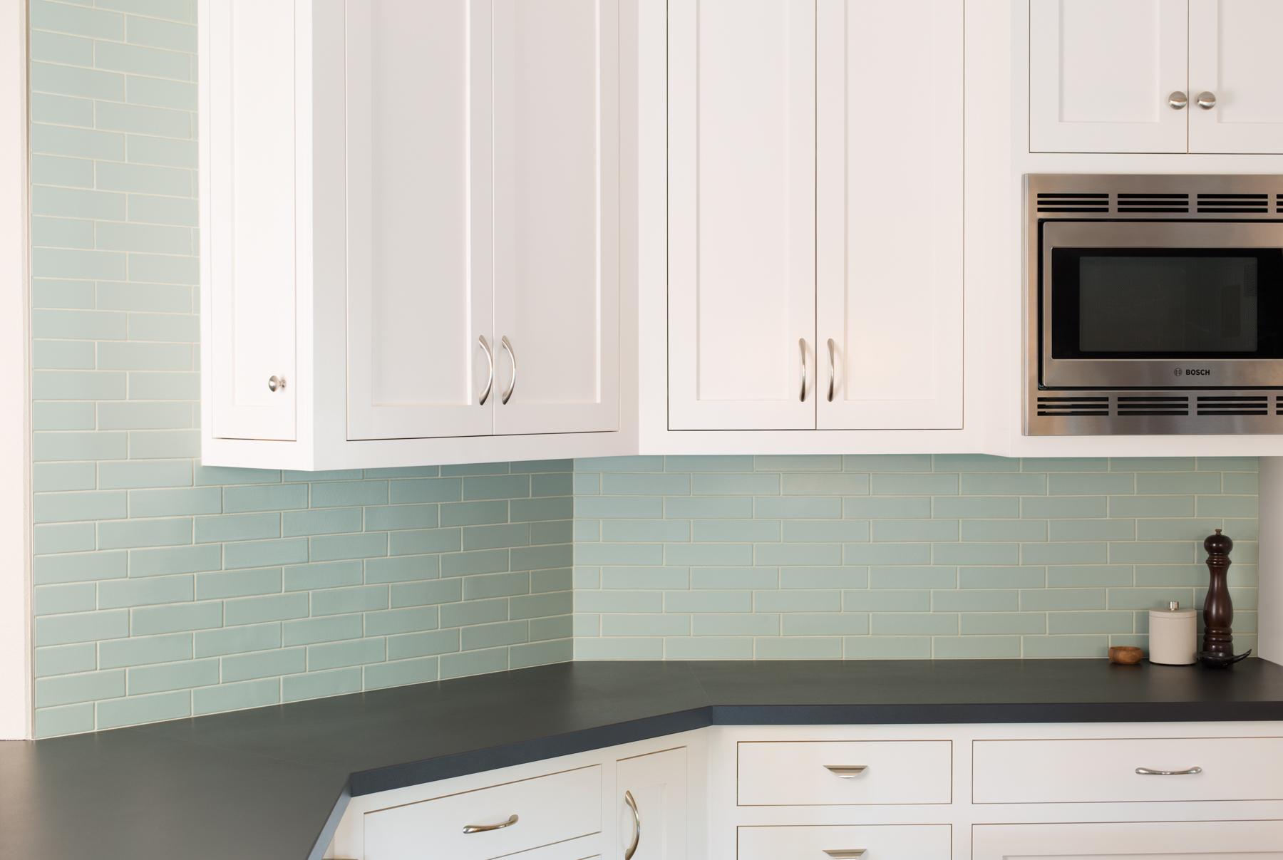 Sea Glass 2x8 Fireclay Tile Backsplash