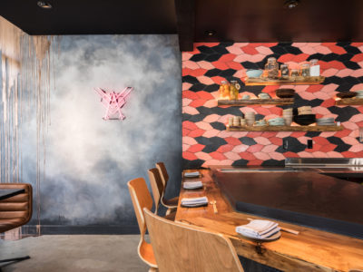 Robin Sushi's Koi Fish-Inspired Backsplash