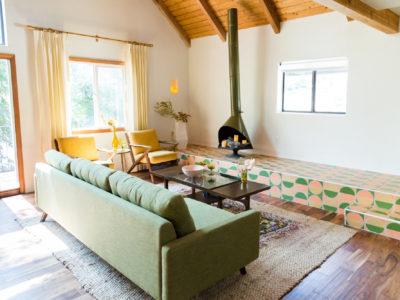 Kitchy Kitchen Cabin: Fireplace Platform