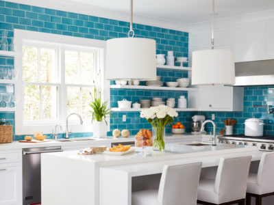 Coastal Living Hawaiian Blue Kitchen