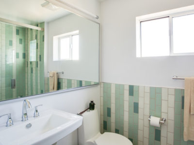 Soothing Green Bathroom