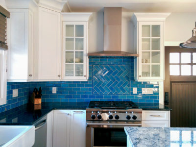 Ocean-Inspired Tile Backsplash