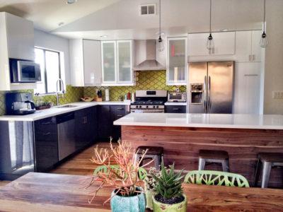 Vibrant Mid Century Modern Kitchen