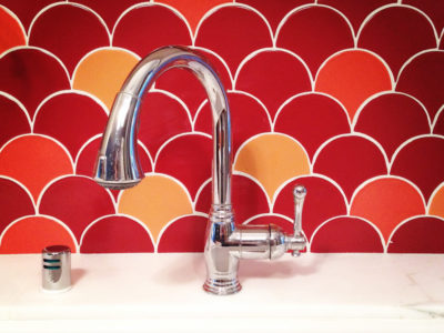A Bright and Custom Backsplash
