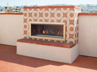Spanish Colonial Fireplace in San Francisco