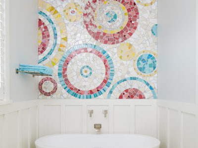 Eclectic Mosaic Bathroom