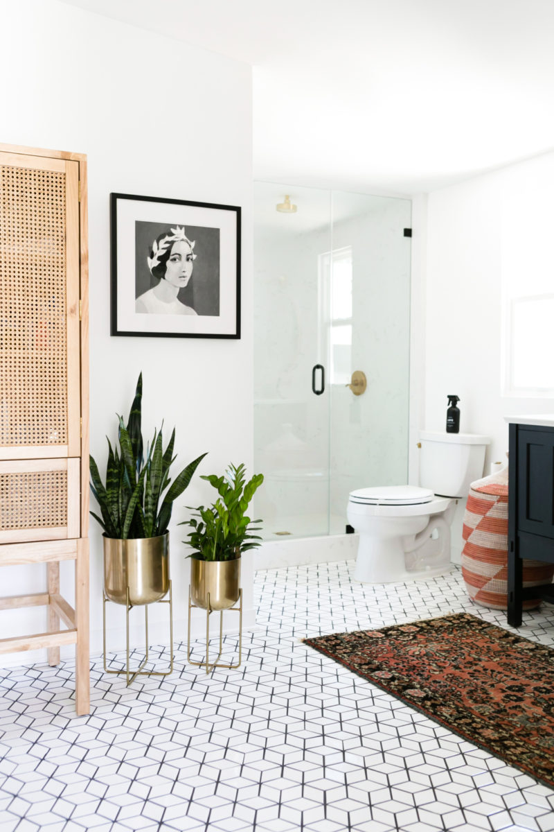 Jaclyn Johnson's Small Diamond Bathroom Floor | Fireclay Tile