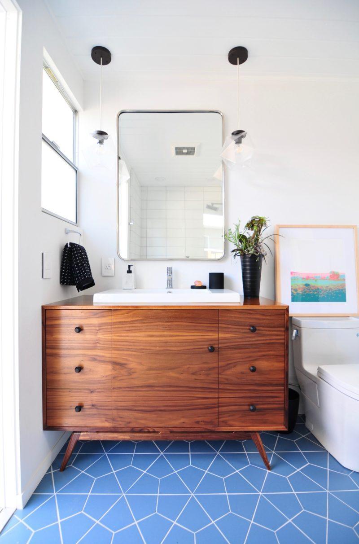 Midcentury Meets Modern Bathroom | Fireclay Tile