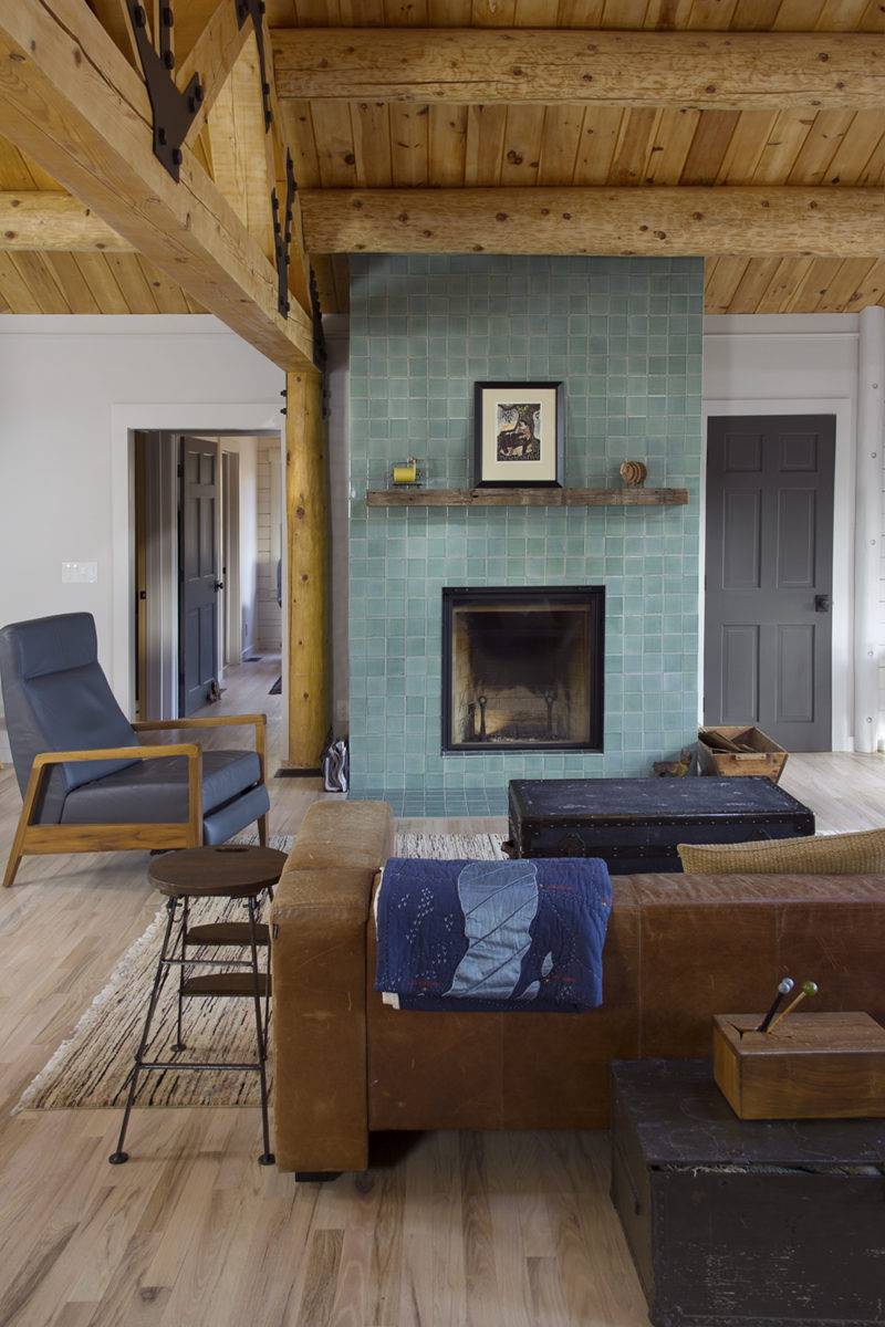 Floor To Ceiling Fireplace Tile Surround Fireclay Tile