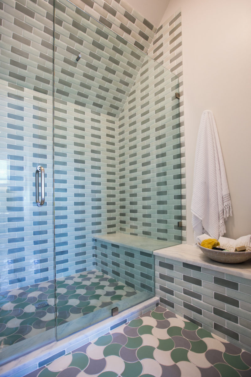Ogee Drop Bathroom Floor Tile | Fireclay Tile