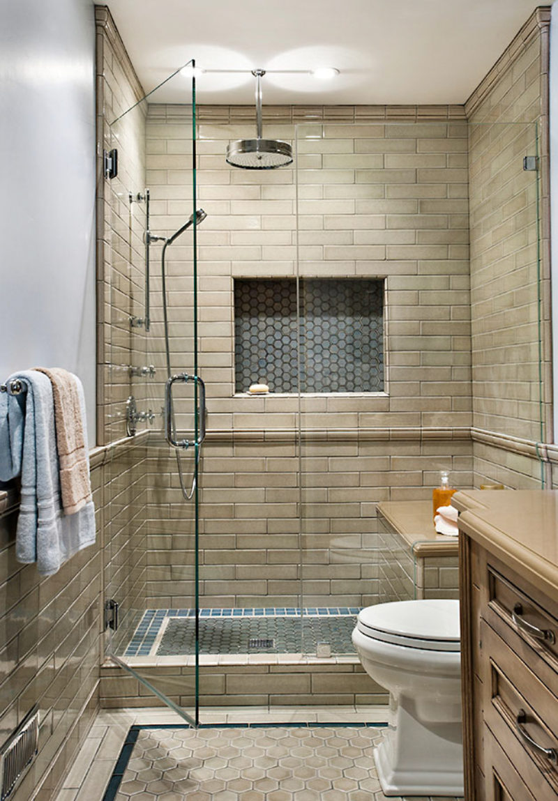 Classic And Neutral Bathroom Fireclay Tile