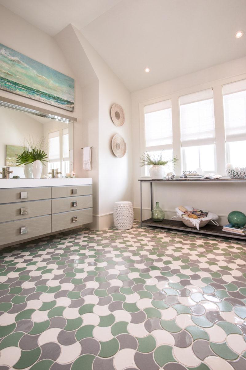 Ogee Drop Bathroom Floor Tile Fireclay Tile