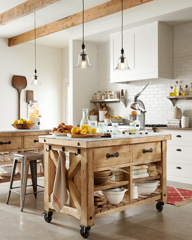 Rustic And Traditional Brick Kitchen