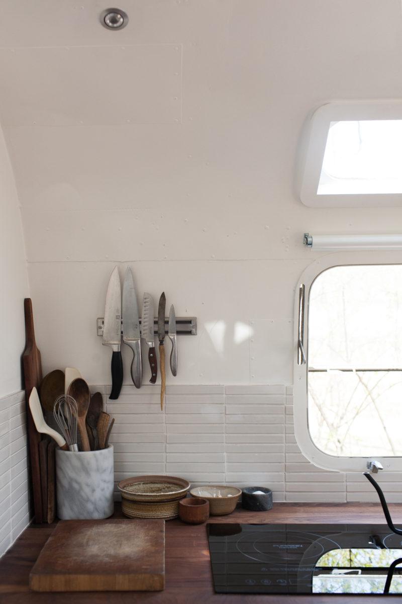 Herringbone Bathroom Sink Backsplash