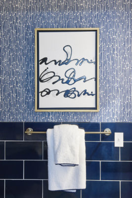 Coastal Living 2017 Idea House: Navy Blue Bathroom