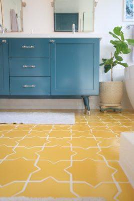 A Starry Bathroom Floor