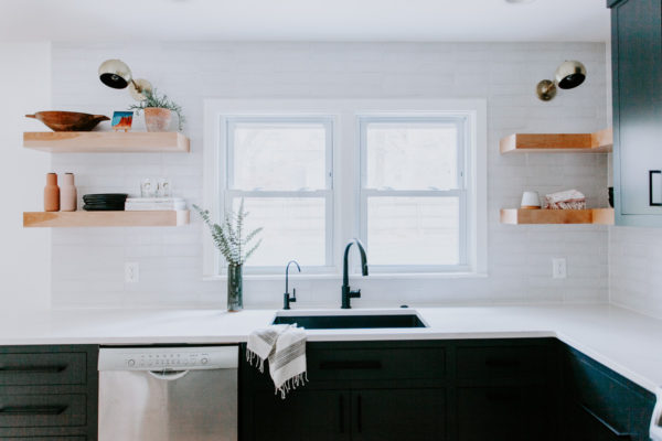 White Mountains Brick Kitchen Backsplash