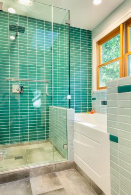 Tropical & Contemporary Bathroom