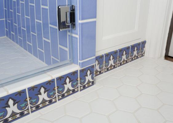 Fireclay Feature: Paul Burns' Blue + White Shower Refresh