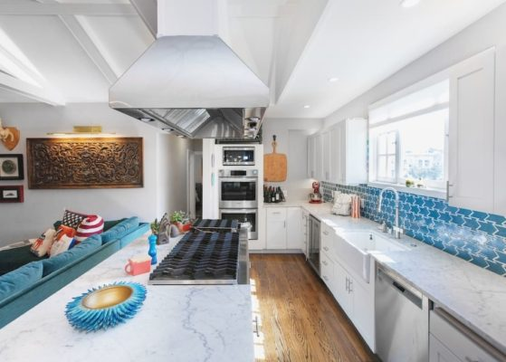 Eclectic Kitchen with an Edge