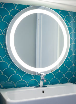 Whimsical Ogee Drop Bathroom