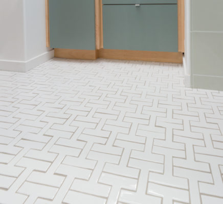 Bathroom Tile Gets a Chic Shape-Up