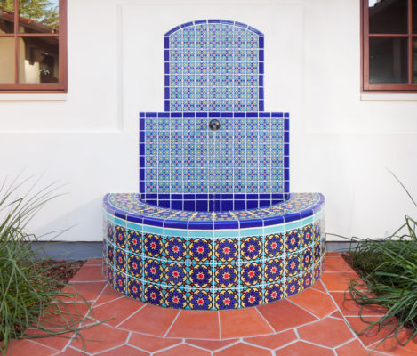 Spanish Colonial Handpainted Fountain
