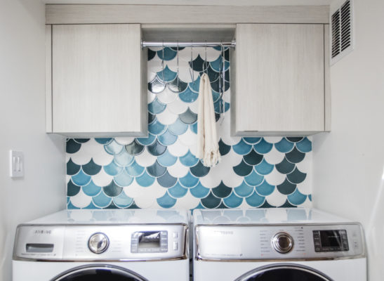 Make It Mosaic: Ogee Drop Laundry Room